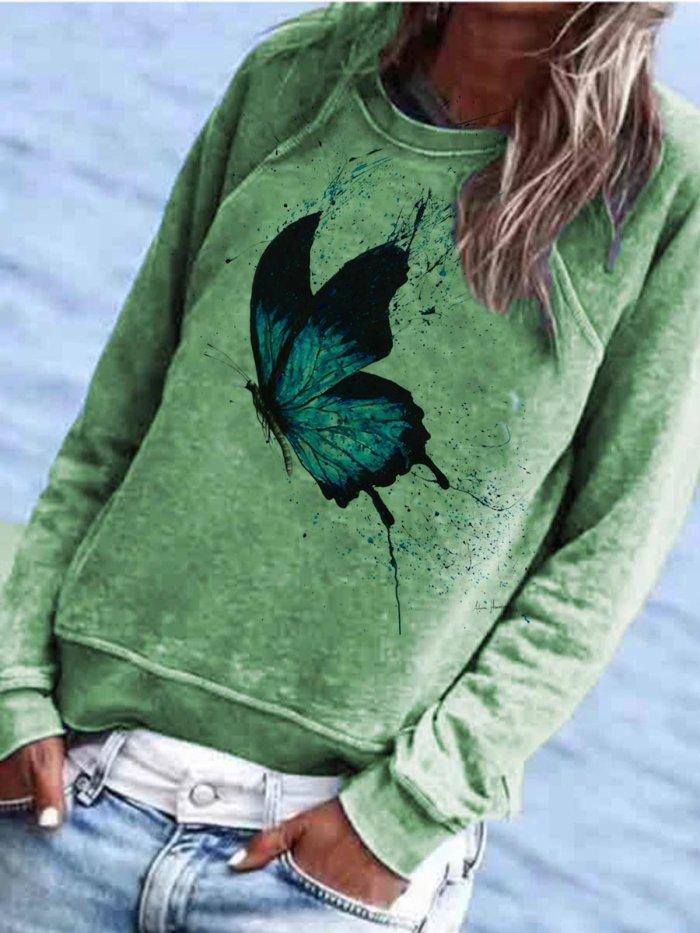 Animal Casual Long Sleeve Shirts & Tops
