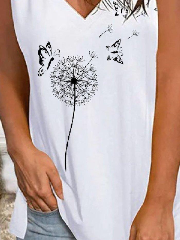 Casual V Neck Sleeveless Shirts & Tops Vests