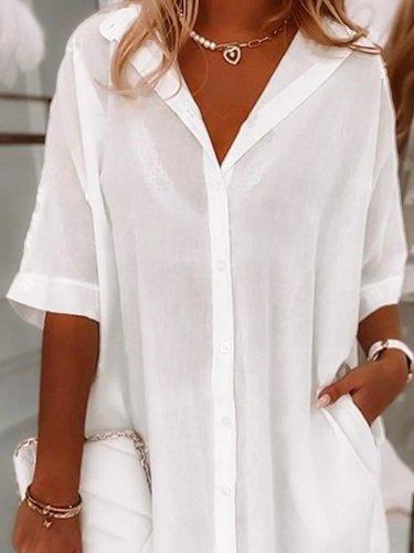 Cotton Casual Half Sleeve Dresses