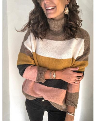 Women Turtleneck stitched sweaters