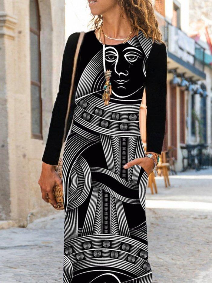 Long Sleeve Casual Maxi Dresses