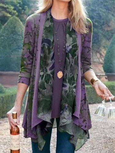 Floral Long Sleeve Outerwear