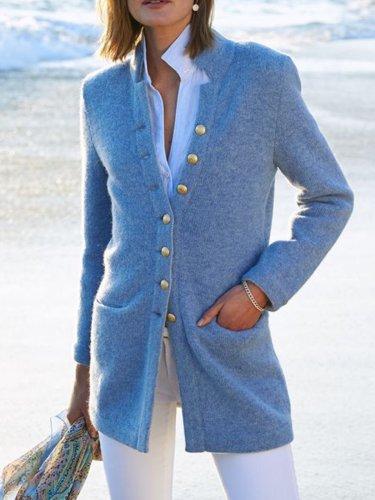 Casual Cotton-Blend Long Sleeve Outerwear Coats for women