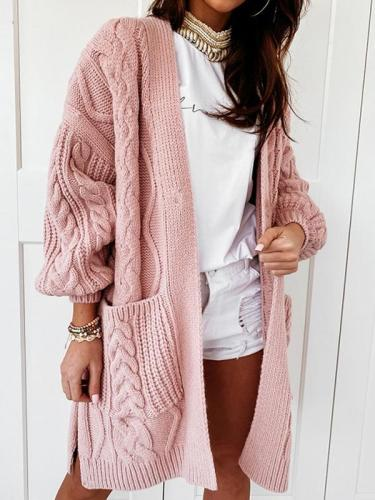 Chic warm soft knit Twist knit sweaters cardigans