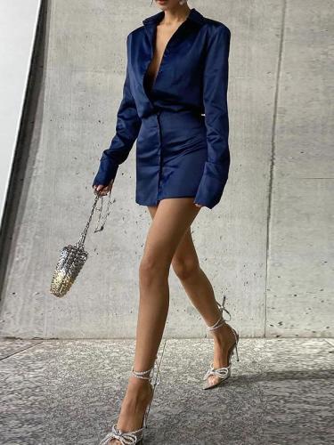Slim-fit buttocks short skirt temperament women's bodycon dresses