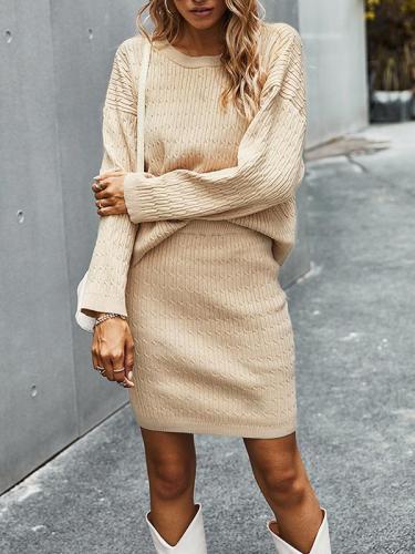 Knit elegant sweater suits women bodycon dresses