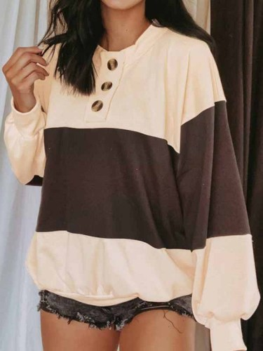 Fashion Casual Solid Split Joint O Neck T-Shirts