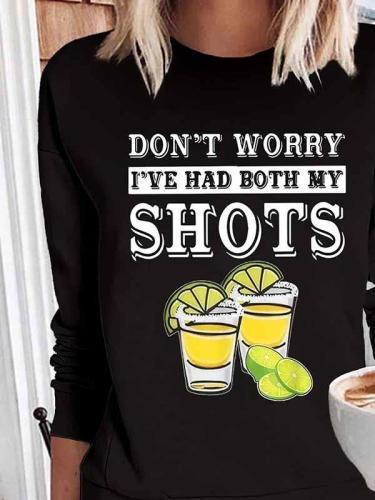 Round neck printed sports pullover women's sweatshirts tops