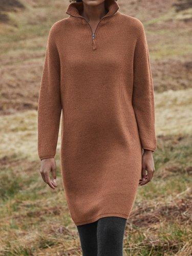 Casual Plain Dresses
