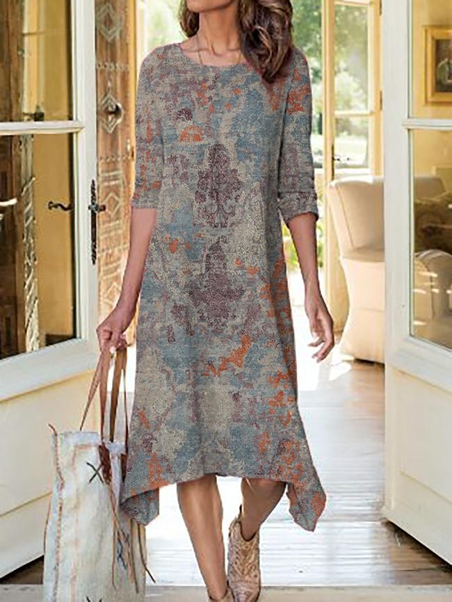 Plus size Geometric Printed Dresses