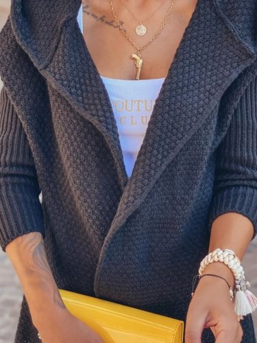 Casual personality basic plain simple woolen Outerwear