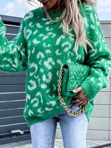 Loosen Crew Neck Sweater For fashion women