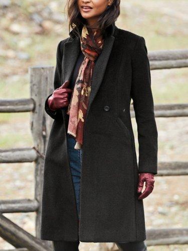 Casual Long Sleeve Plus Size Outwear