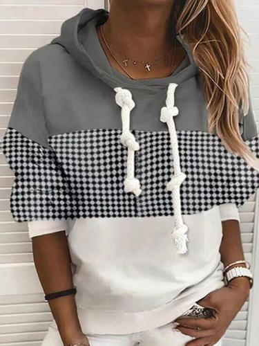 Hoodied women printed casual autumn hoodies