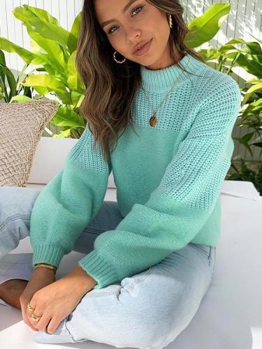Sweet plain fashion women long sleeve warm sweaters