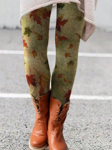 Casual Skinny Leaves long Pants