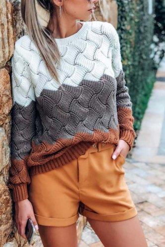 O Neck Knit Sweaters