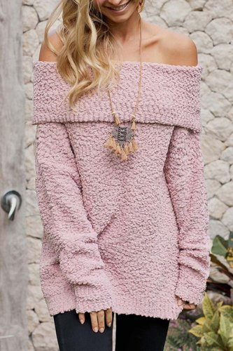 Off Shoulder Sexy Sweaters