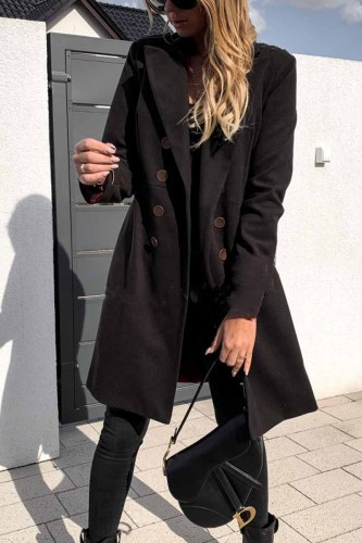 Solid Color Sexy Coat With Buttons(3 Colors)