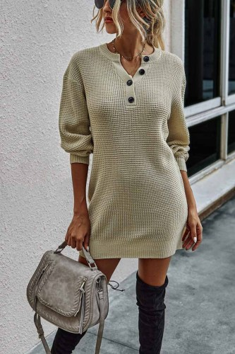 Soild Color Knitted Sexy Dress(3 Colors)