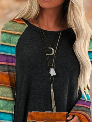 Knitted Raglan Sleeve Shirts & Tops