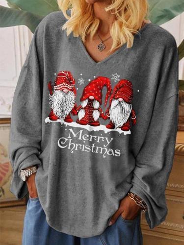 Women's Merry Christmas Printed Sweatshirt