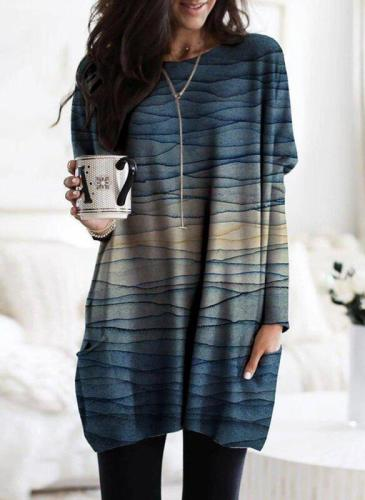 Printed Casual Striped T-Shirts