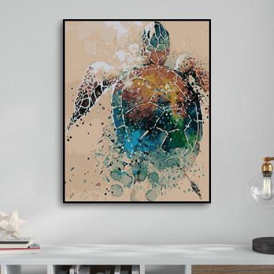 2021 Turtle Diy Paint By Numbers Kits Uk WM1138