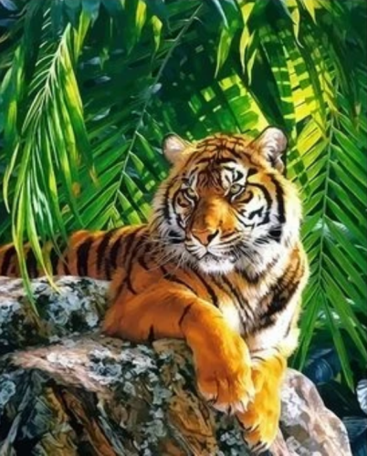 2021 New Arrival Hot Sale Animal Tiger Diy Paint By Numbers Kits Uk XQ2648