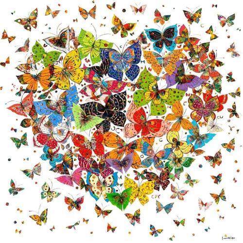 2021 Beautiful Butterflies Heart Diy Paint By Numbers Kits UK VM95625