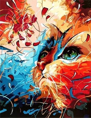 2021 Animal Diy Painting By Numbers Art Kits Uk OTG6137
