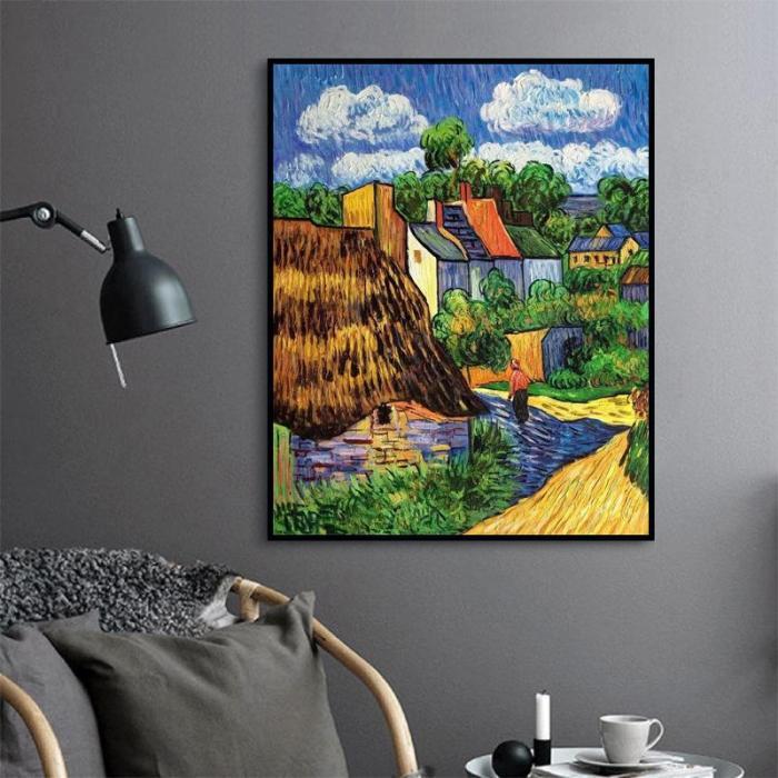 2021 Village Diy Paint By Numbers Kits Uk VM95010