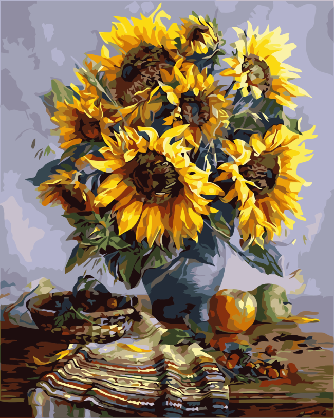 2021 Best Hot Sale Sunflower Paint By Numbers Kits Uk YM186