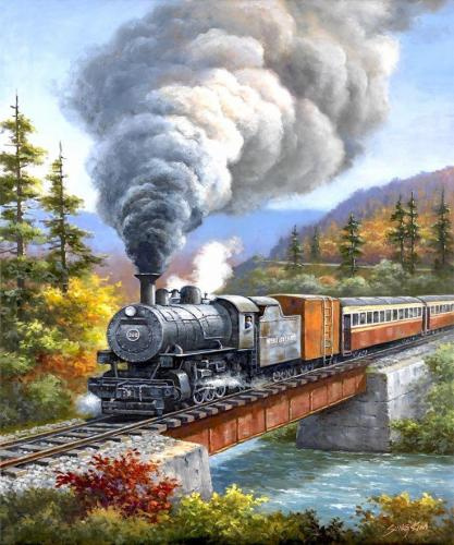 2021 New Arrival Hot Sale Train Diy Paint By Numbers Kits Uk VM90107