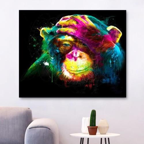 2021 Best Sale Animal Colorful Monkey Paint By Numbers Kits Uk VM00090
