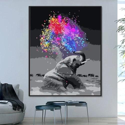 2021 Elephant Diy Oil Paint By Numbers Kits Best Hot Sale Uk WM1295