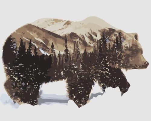 2021 Modern Art Bear Diy Paint By Numbers Kits SY063
