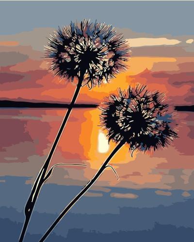2021 Best Fantasy Style Dandelion Lake Diy Paint By Numbers Kits Hot Sale Uk WM1363