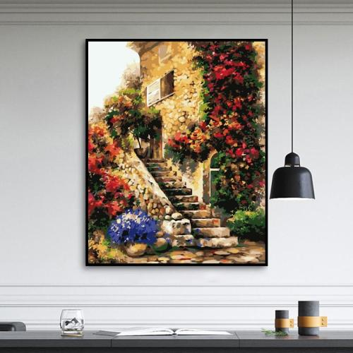 2021 Beautiful Landscape Village Paint By Numbers Kits Uk WM198
