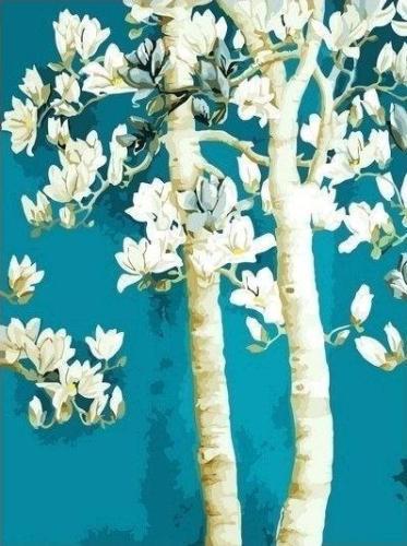 2021 Tree Diy Paint By Numbers Kits Uk YM162
