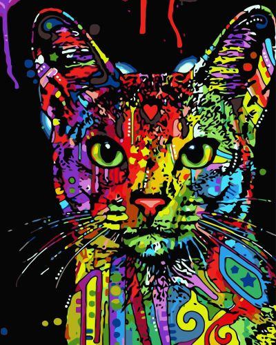 2021 Pop Art Cat Diy Paint By Numbers Kits Uk WM142