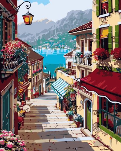 2021 Hot Sale Landscape Street Paint By Numbers Kits UK GX433