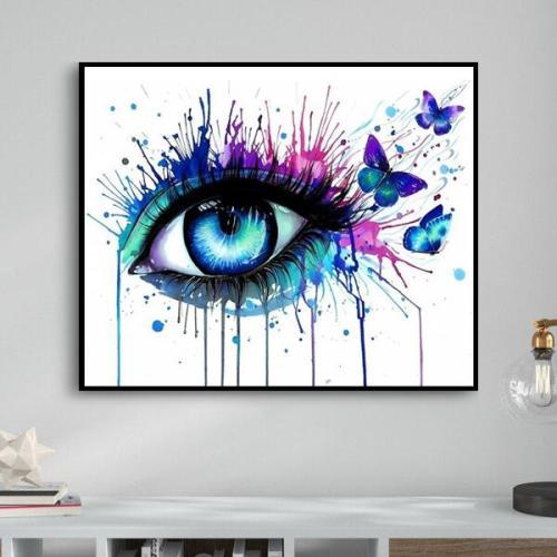 2021 Portrait Eyes Diy Paint By Numbers Kits Uk VM91476