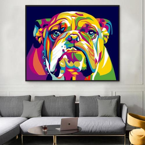2021 Colorful Modern Art Dog Diy Paint By Numbers Kits UK VM54625