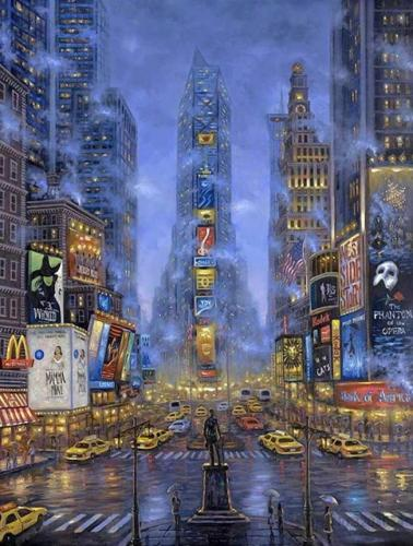 2021 New Hot Sale Landscape City Street Diy Paint By Numbers Kits Uk BN90254