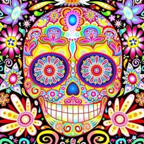 2021 Colorful Modern Art Skull Paint By Numbers Kits Uk VM90029