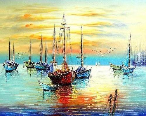 2021 Landscape Diy Painting By Numbers Art Kits Uk PH9231