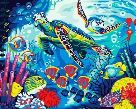 2021 Turtle Diy Paint By Numbers Kits Uk WM923
