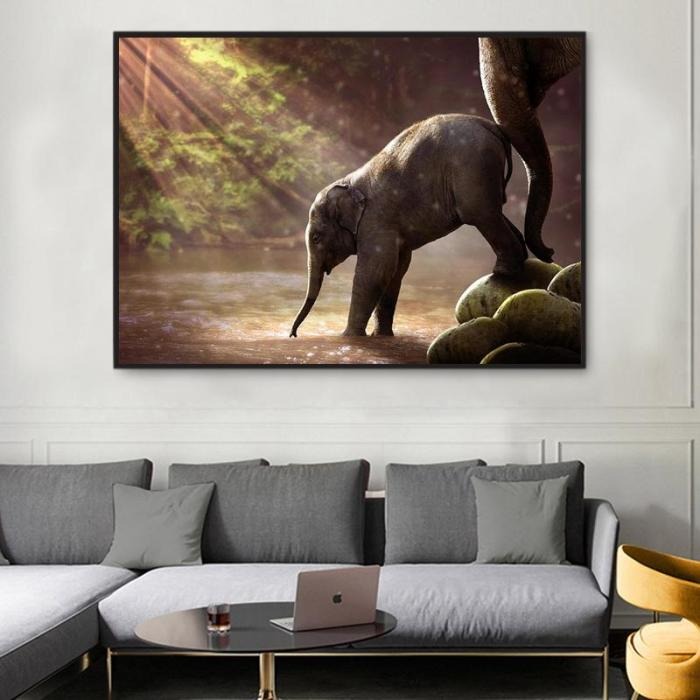 2021 New Arrival Hot Sale Animal Elephant Paint By Numbers Kits Uk VM92287