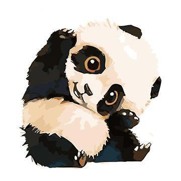 2021 Best Cute Cartoon Panda Paint By Numbers Kits Uk VM92120